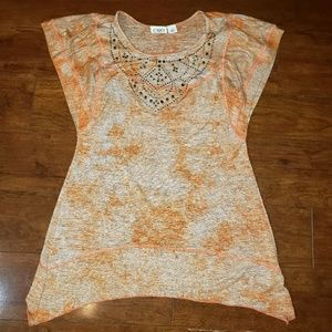 Cato embellished shirt, orange